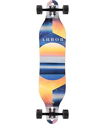 "Arbor Axis Photo Collaboration 40"" drop through longboard completo"