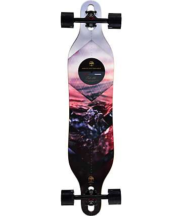 "Arbor Axis Walnut 40""  Drop Through Longboard Complete"