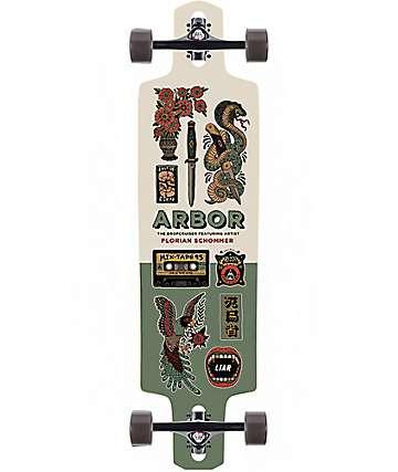 """Arbor Dropcruiser AC 38"""" longboard completo"""