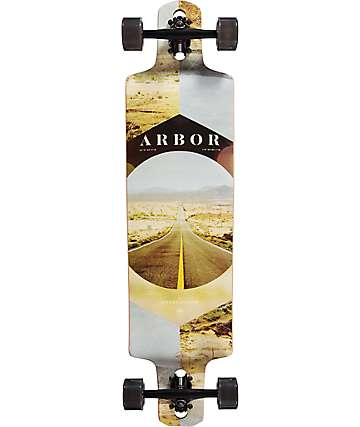 "Arbor Dropcruiser PC Desert 38"" drop though longboard completo"