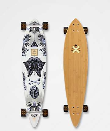 "Arbor Fish Bamboo Collection 37"" Pintail Longboard Complete"