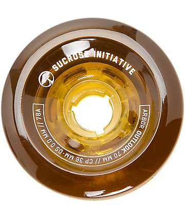 Arbor Outlook 70mm 78a Amber Longboard Wheels