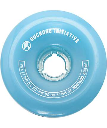 Arbor Outlook 70mm 78a Ghost Blue Longboard Wheels