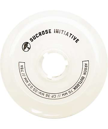 Arbor Outlook 70mm 78a Ghost White Longboard Wheels