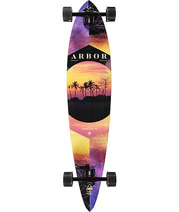 "Arbor Timeless Photo Collaboration 42"" Pintail Longboard Complete"