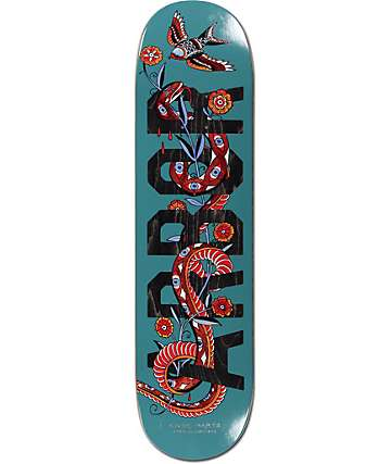 "Arbor Whiskey Martz Blue Snake 8.5"" Skateboard Deck"