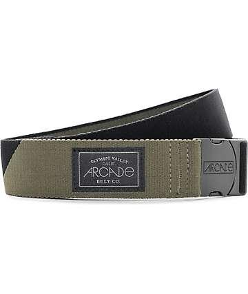 Arcade Cornerstone Olive & Black Clip Belt