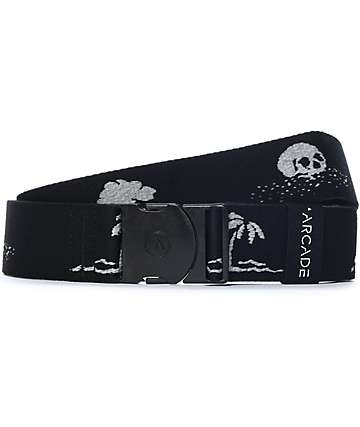 Arcade The Strand Skull & Palm Tree Black Belt
