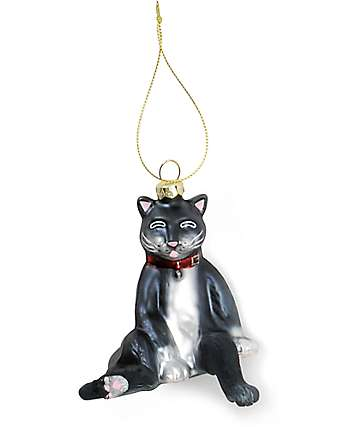 Archie McPhee Derpy Cat Ornament