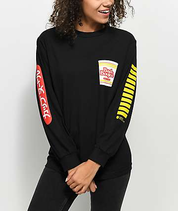Artist Collective Boujee Cup Black Long Sleeve T-Shirt