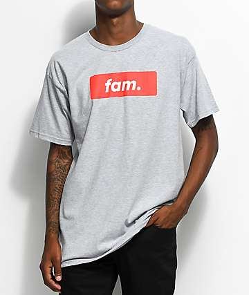 Artist Collective Fam. Box Logo Grey T-Shirt