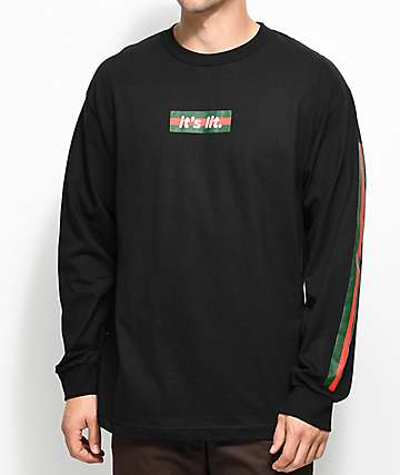 Artist Collective G-Box Its Lit Black Long Sleeve T-Shirt