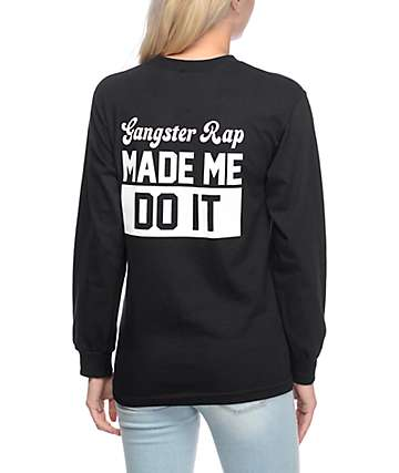 Artist Collective Gangster Rap Black Long Sleeve T-Shirt