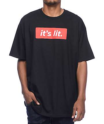 Artist Collective It's Lit Black T-Shirt