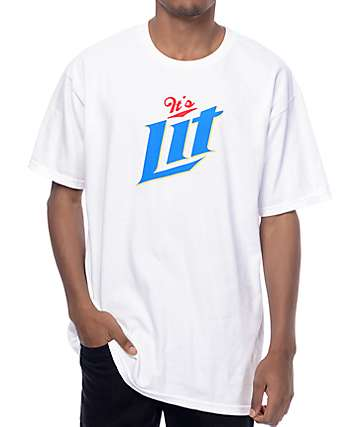 Artist Collective Its Lit Beer White T-Shirt