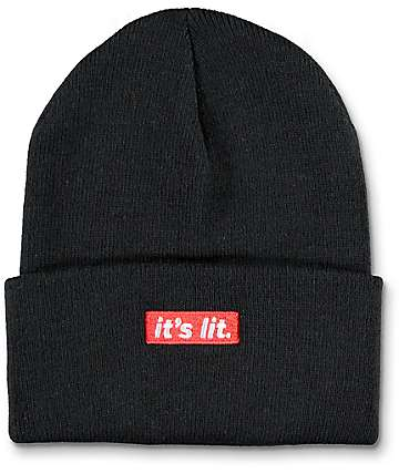Artist Collective Its Lit Black Beanie