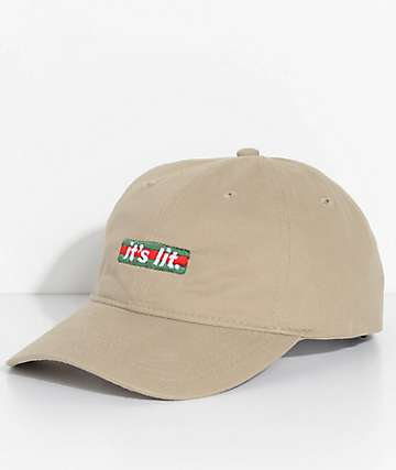 Artist Collective Its Lit GBox Khaki Strapback Hat