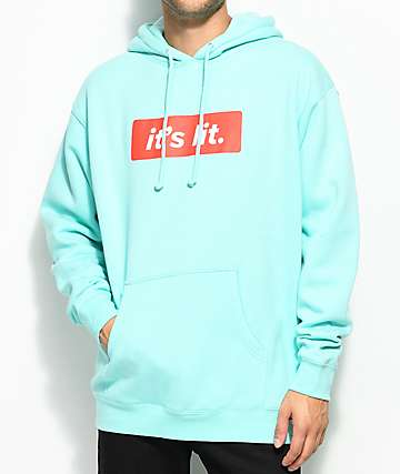 Artist Collective Its Lit Mint Hoodie