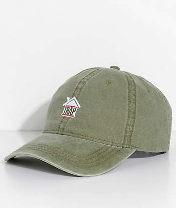 Artist Collective Trap House Green Pigment Strapback Hat