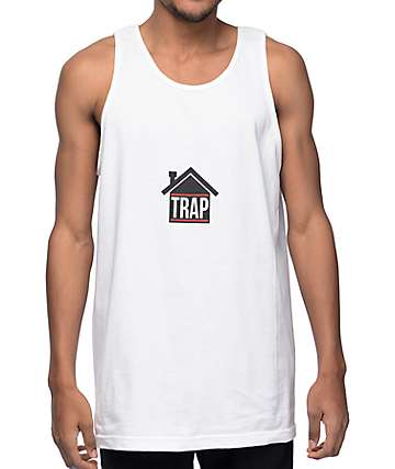 Artist Collective Trap House White Tank Top