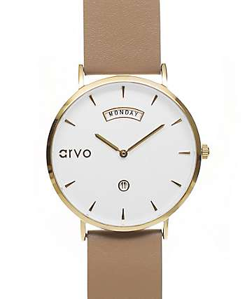 Arvo Awristacrat Gold & Nude Watch