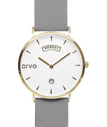Arvo Awristacrat Grey & Gold Watch
