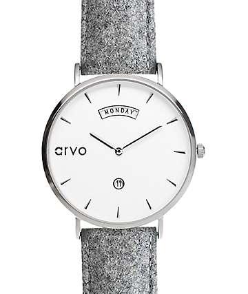 Arvo Awristacrat Silver Felt Watch