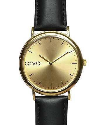 Arvo Time Sawyer Gold & Black Analog Watch