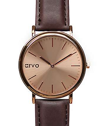 Arvo Time Sawyer Rose & Brown Watch