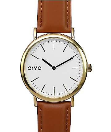 Arvo Time Sawyer White, Gold & Brown Watch