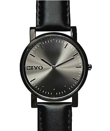 Arvo Timeus Edison Gunmetal & Black Analog Watch