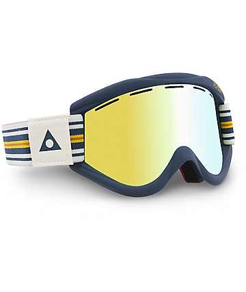Ashbury Kaleidoscope AC máscara de snowboard en dorado espejo