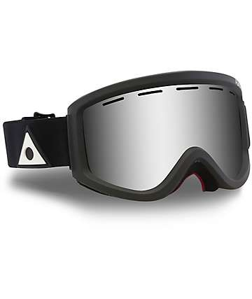 Ashbury Warlock Black Silver Mirror Snowboard Goggles