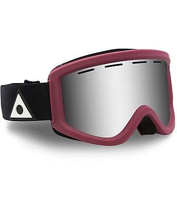Ashbury Warlock Burgundy Silver Mirror Snowboard Goggles