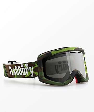 Ashbury Warlock Camo Silver Snowboard Goggles