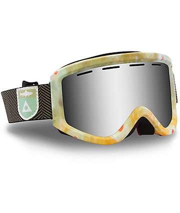 Ashbury Warlock lentes para gafas de nieve plateados en verde y naranja
