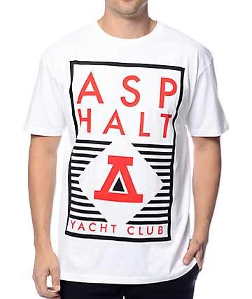 Asphalt Yacht Club 2 Color Rec Lock Up White T-Shirt