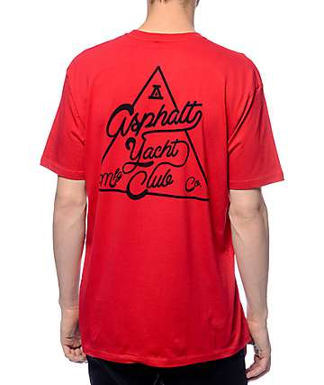 Asphalt Yacht Club ATC Tri-Lock Red T-Shirt