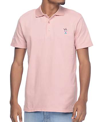 Asphalt Yacht Club Lemonade Pink Polo Shirt