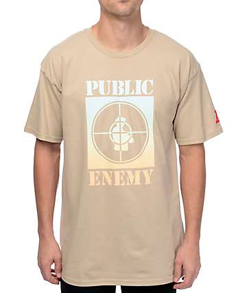 Asphalt Yacht Club Public Enemy Tan T-Shirt