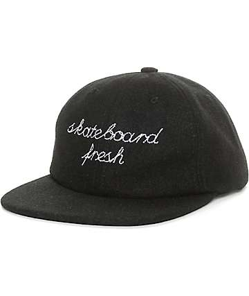 Asphalt Yacht Club Skateboard Fresh Black Snapback Hat
