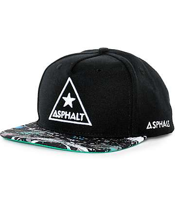 Asphalt Yacht Club Sprayed Bill Snapback Hat