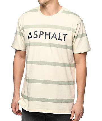 Asphalt Yacht Club Striped Parchment T-Shirt