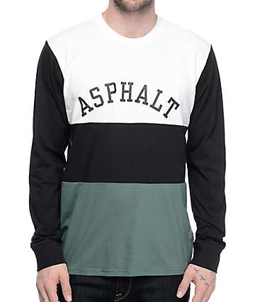 Asphalt Yacht Club Triblock Multi Colored Long Sleeve T-Shirt