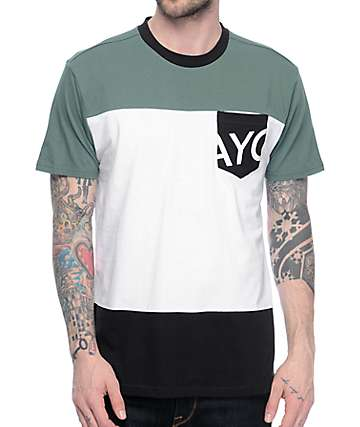 Asphalt Yacht Club Triblock Pocket Dark Teal T-Shirt