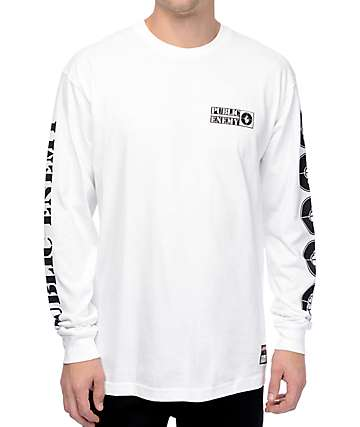 Asphalt Yacht Club x Public Enemy Target White Long Sleeve T-Shirt