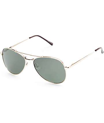 Aviator Corporal Gold & Smoke Sunglasses