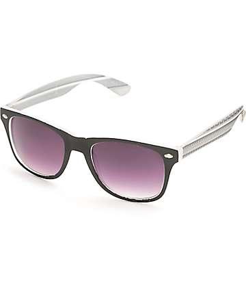 Aztec Classic Black Rubber & Grey Sunglasses