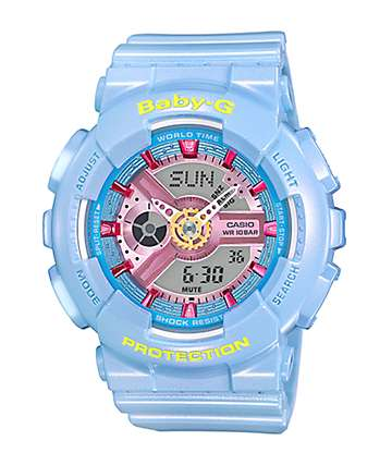 Baby-G BA110CA-2A Neo Pastel Blue Watch