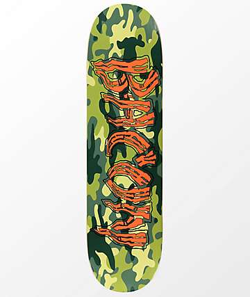 "Bacon Logo Camo 8.25"" Skateboard Deck"